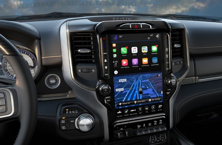 2020 Ram 2500 12-Inch Uconnect Display