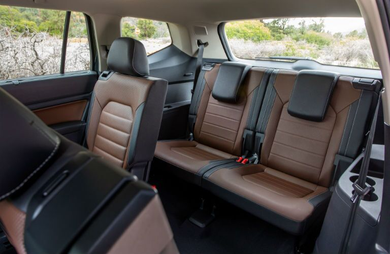 A photo of the second and third rows of seats in the 2021 VW Atlas.