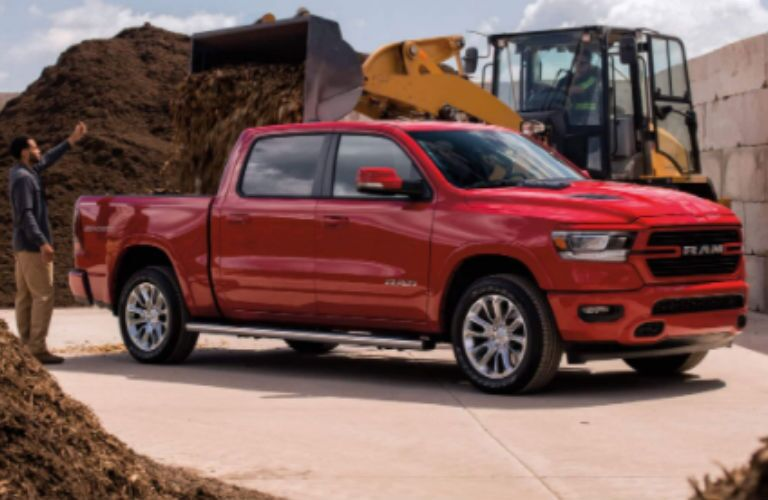2021 Ram 1500 in red