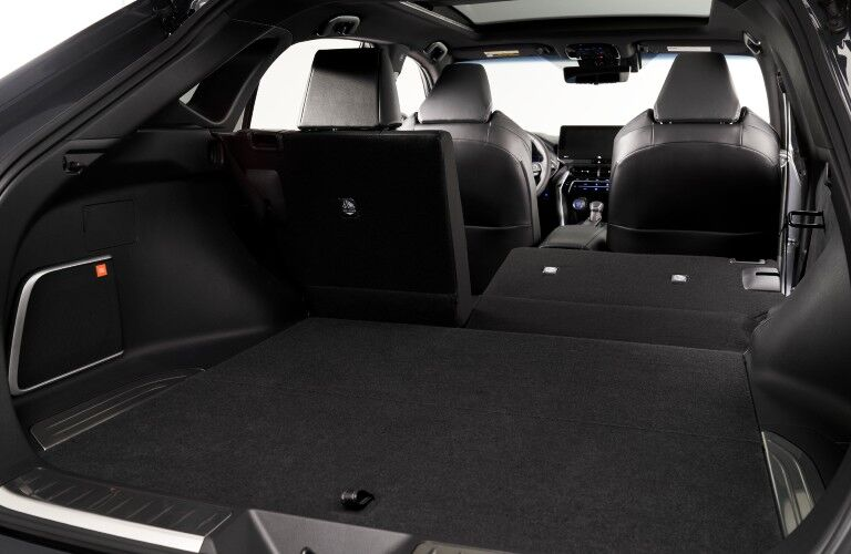 A photo of the cargo area in the 2021 Toyota Venza.