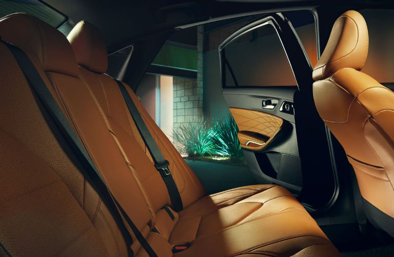 A photo of the backseat in the 2021 Toyota Avalon.