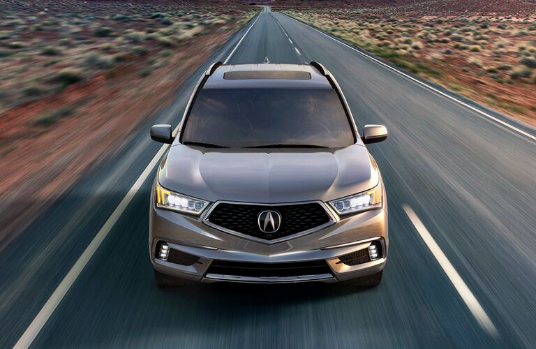2020 Acura MDX front in gray