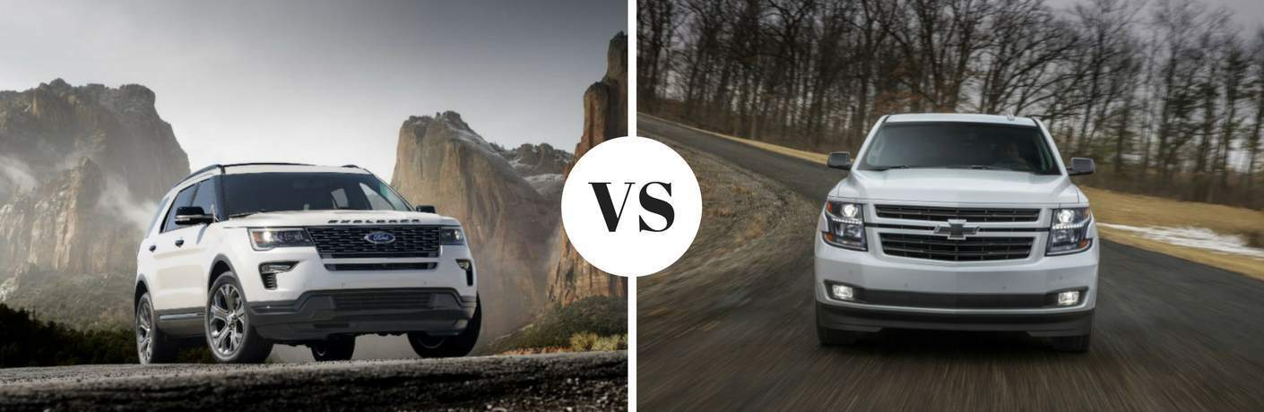 2018 Ford Explorer vs 2018 Chevy Tahoe