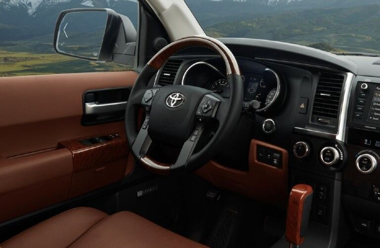 2021 Toyota Sequoia interior front dash