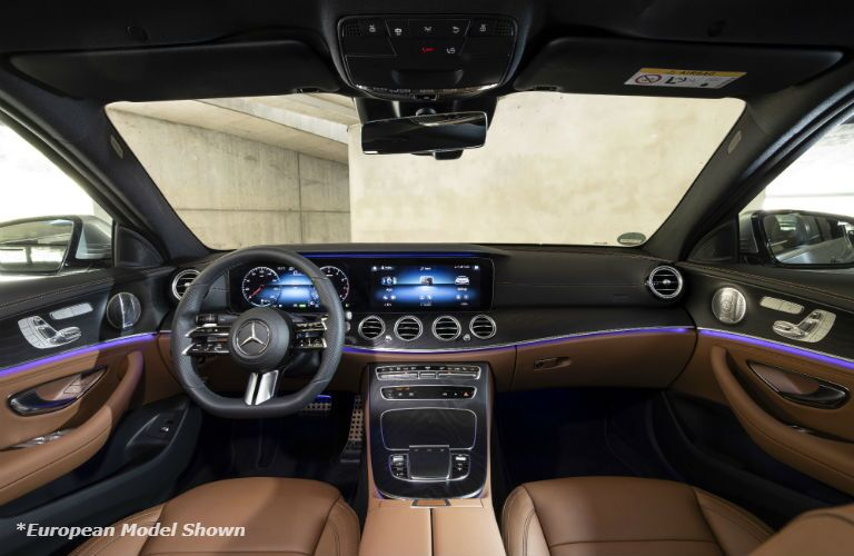A photo of the dashboard in the 2021 Mercedes-Benz E 350.