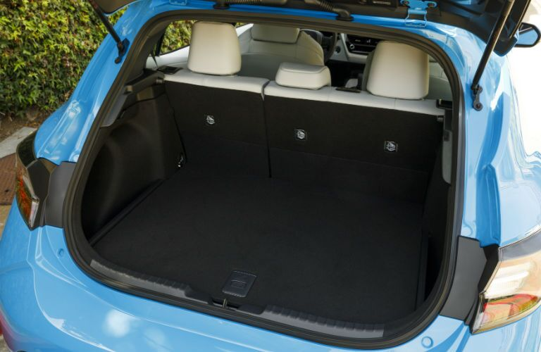 A photo of the cargo area in the 2021 Toyota Corolla Hatchback.