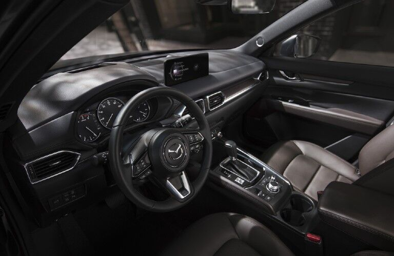 steering wheel in the 2021 Mazda CX-5