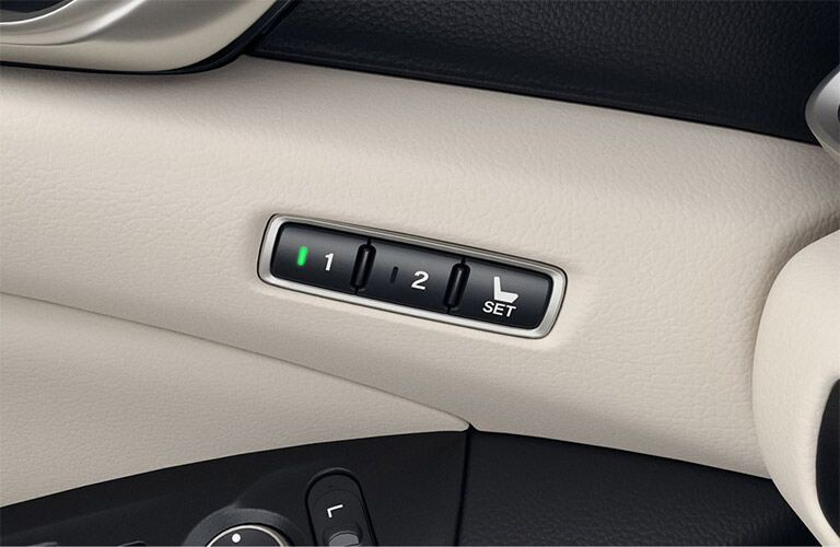 2019 Honda Accord seat control buttons
