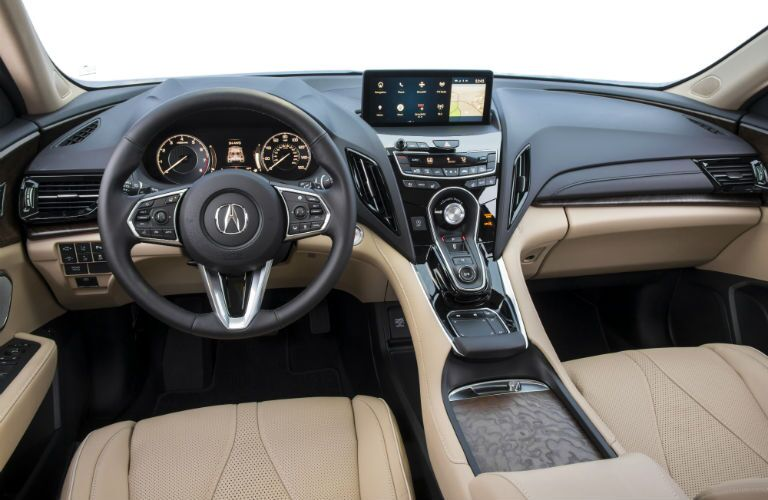 A photo of the driver's cockpit and dashboard in the 2020 Acura RDX.