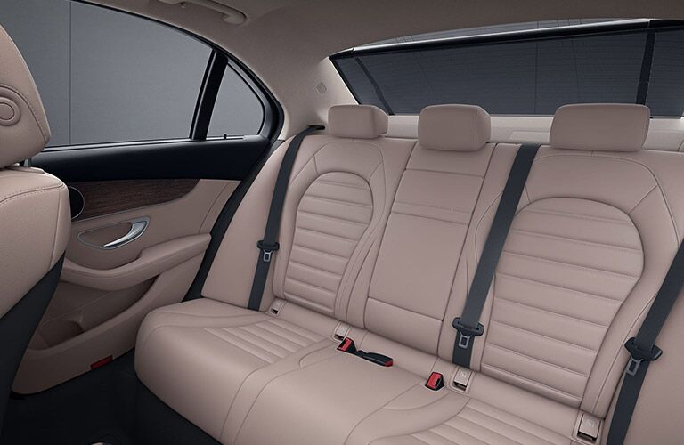 2020 MB C-Class interior rear seats
