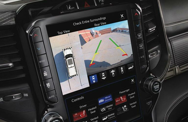 2020 Ram 1500 rear view camera display