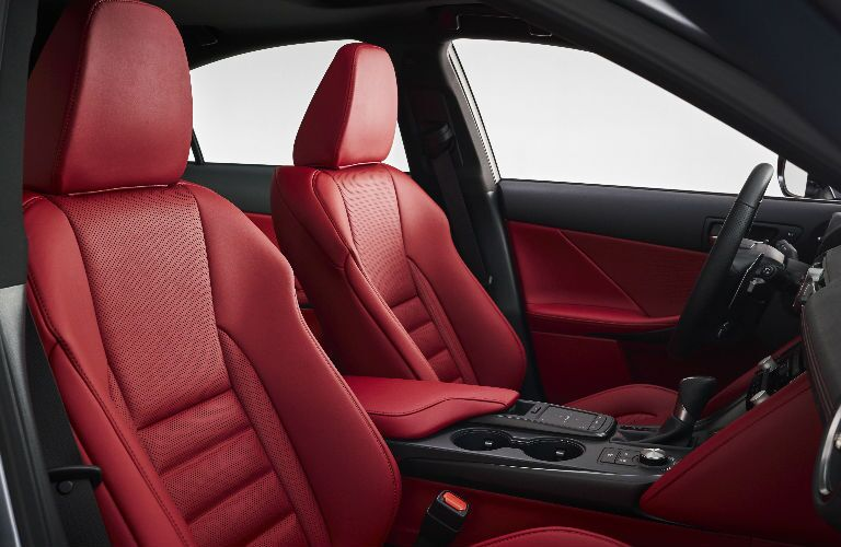 A photo of the front seats in the 2021 Lexus IS.