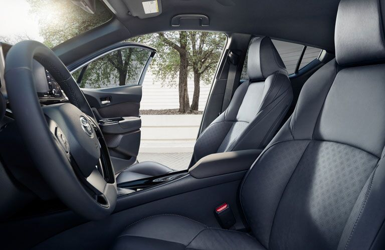 2020 Toyota C-HR front seats looking through both doors