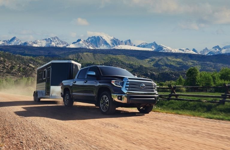 2021 Toyota Tundra driving with a trailer