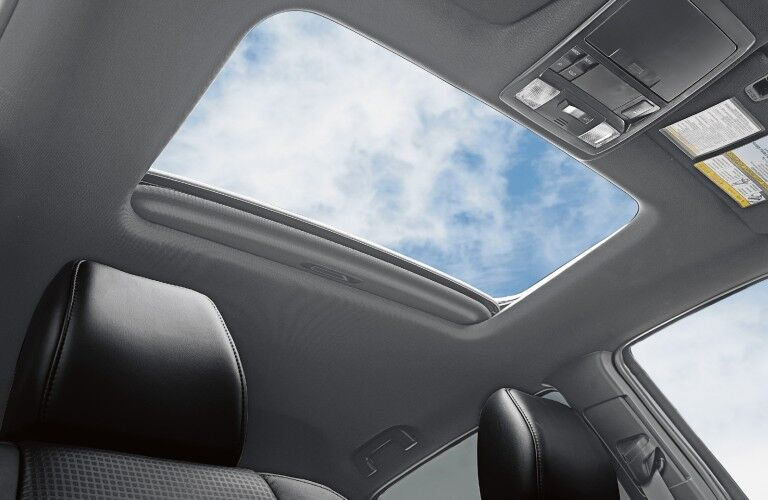 A photo of the sunroof in the 2021 Toyota Tacoma.