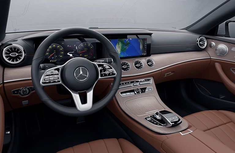 2021 MB E-Class Coupe front interior