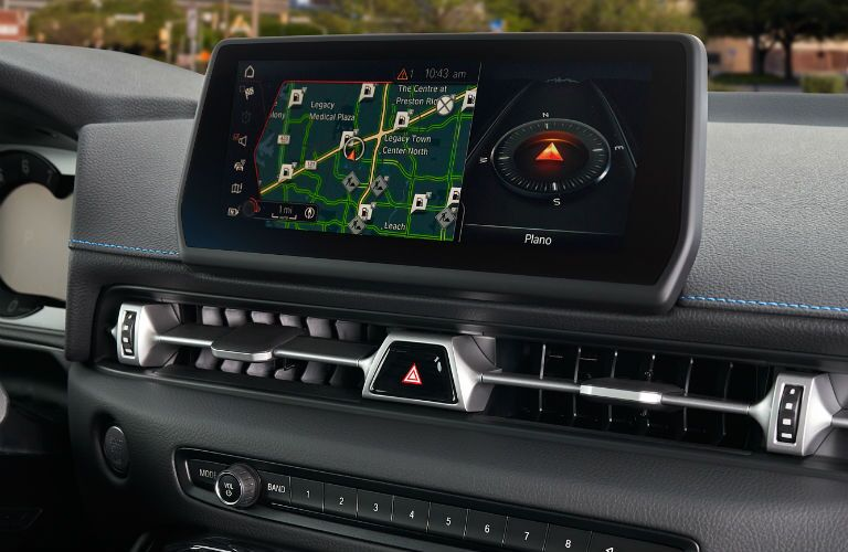 A photo of the touchscreen interface used in the 2021 Toyota Supra.