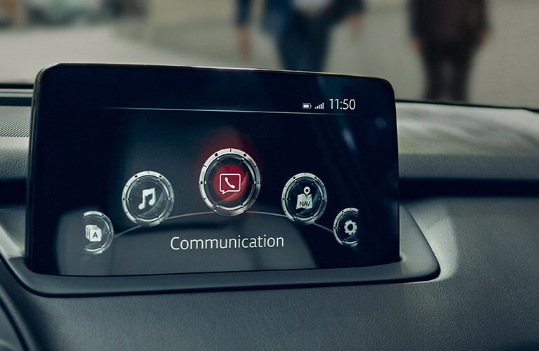 Touchscreen display inside 2020 Mazda CX-9