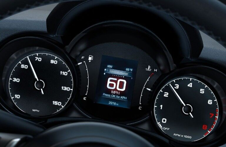 Close up of the Driver Information Digital Cluster Display in the 2019 FIAT 500X