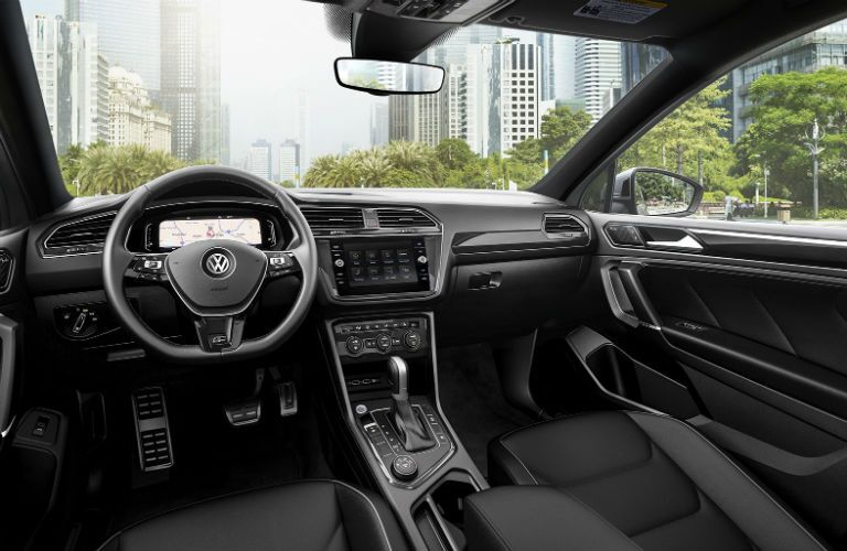 interior of 2020 vw tiguan