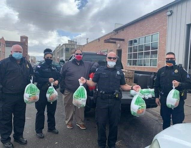 police with turkeys for Phil Meador Toyota