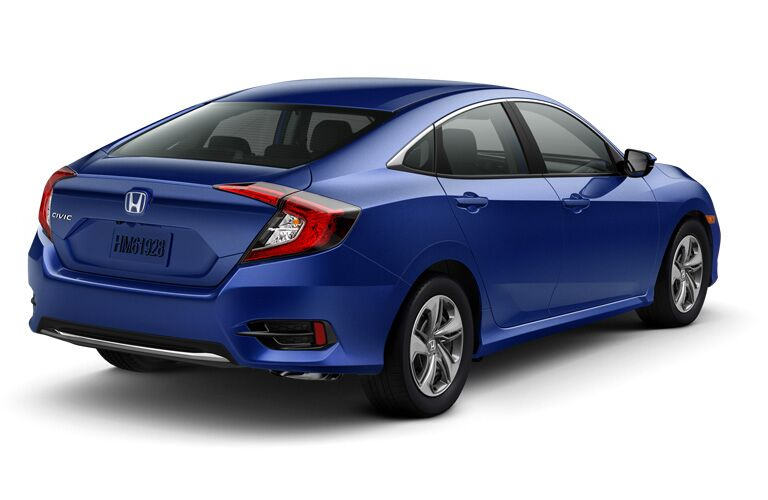 2020 Honda LX sedan in blue
