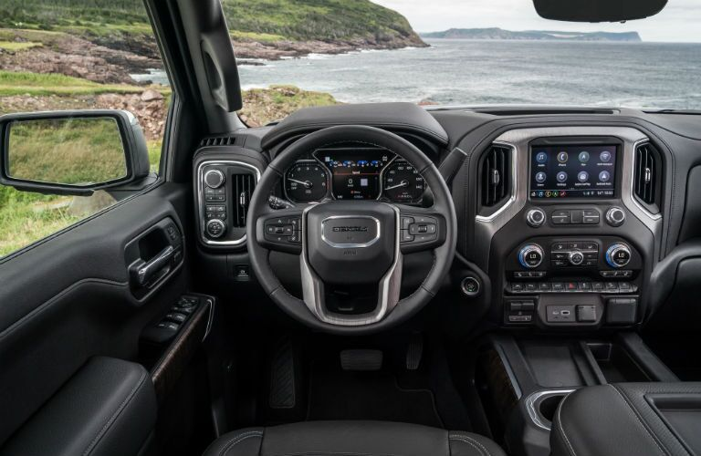 2019 GMC Sierra 1500 interior view by a bay