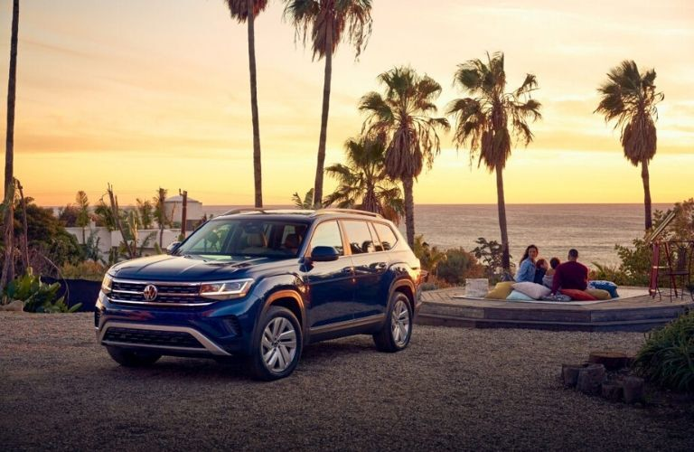 2021 Volkswagen Atlas parked in front of beach