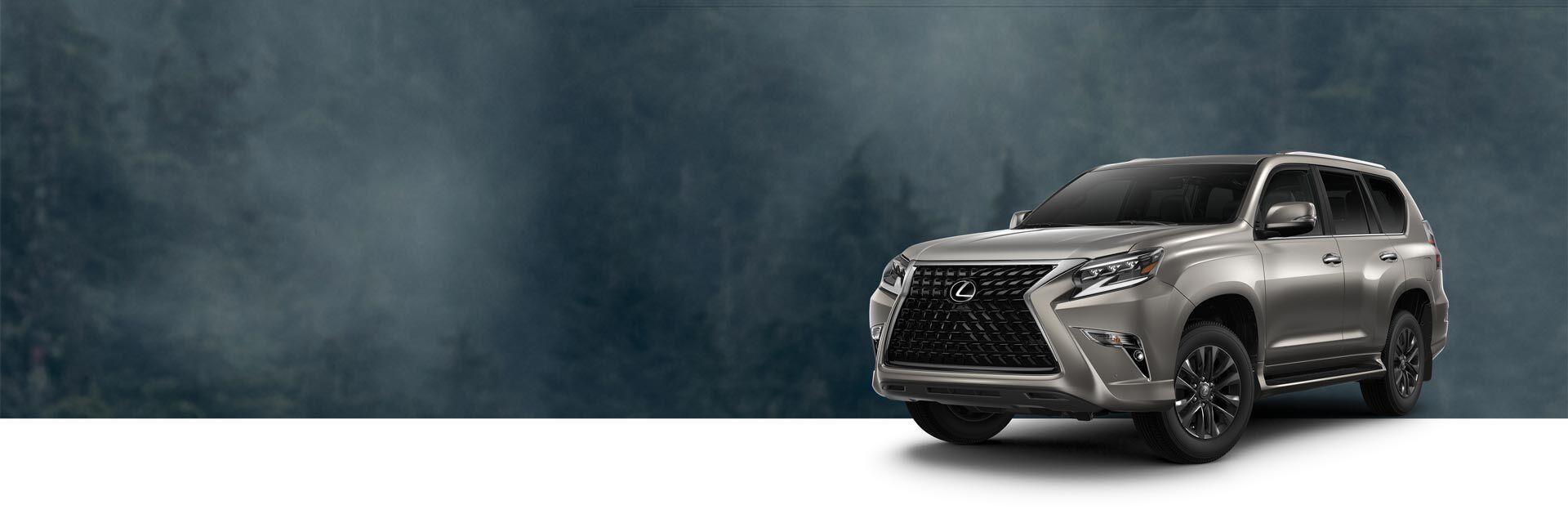 Exterior of the Lexus GX 460 Premium shown in Atomic Silver.