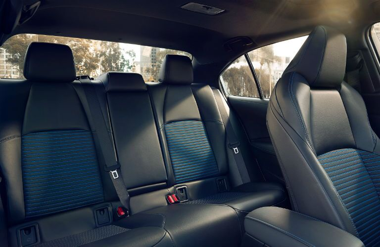 A photo of the backseats in the 2021 Toyota Corolla Hybrid.