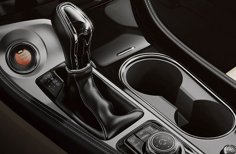 The gear shift on the 2021 Nissan Maxima