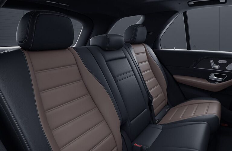 2020 MB GLE SUV interior rear cabin seats