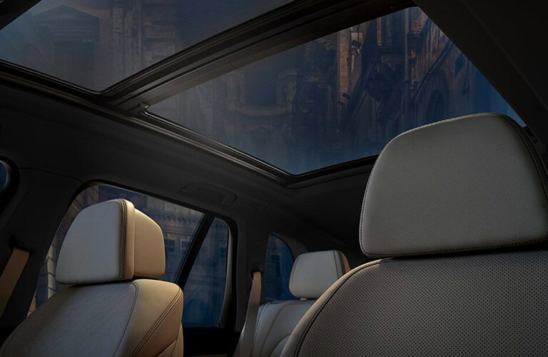 view of moonroof from the inside of the 2019 BMW X5