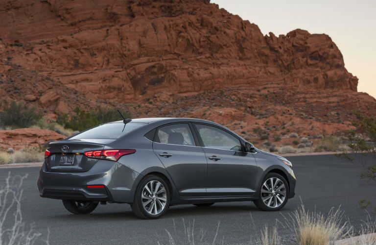 2020 Hyundai Accent about to take off on an adventure