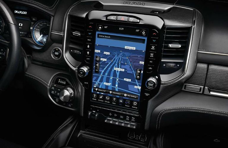 2020 Ram 1500 12-inch touchscreen display