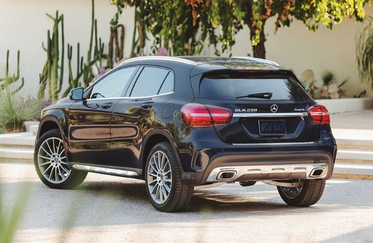 2020 Mercedes-Benz GLA exterior viewed from rear