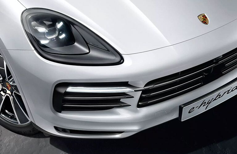 close up view of the 2020 Porsche Cayenne