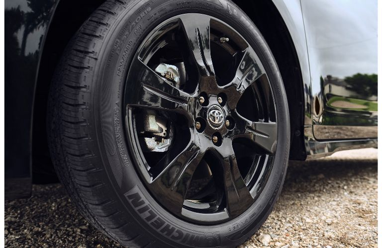 2020 Toyota Sienna Nightshade Edition exterior closeup shot of wheel design