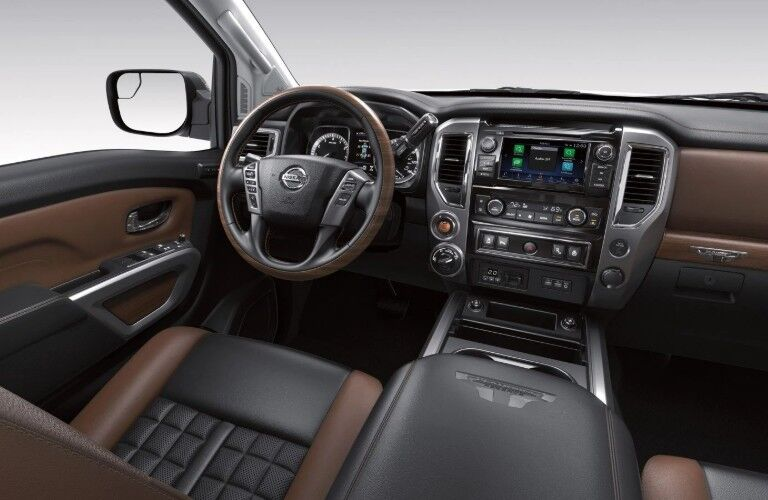 Front interior inside the 2019 Nissan TITAN