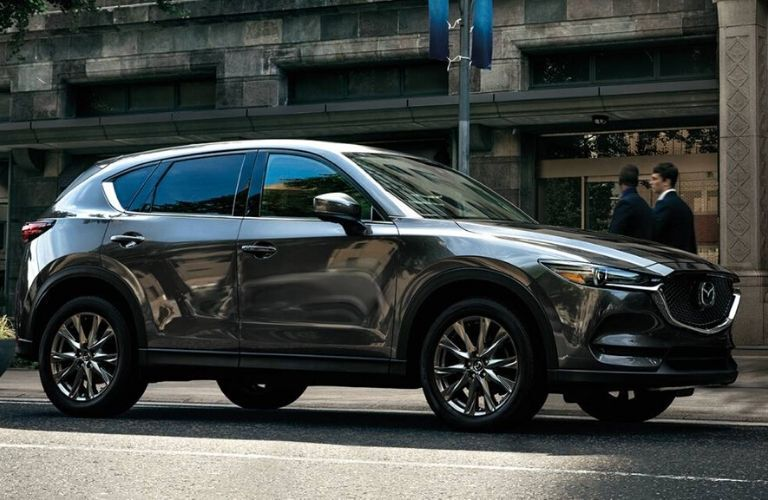 2020 Mazda CX-5 parked outside by road