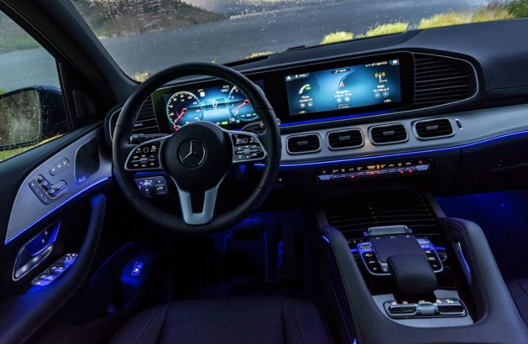 blue ambient lighting in 2020 Mercedes-Benz GLS