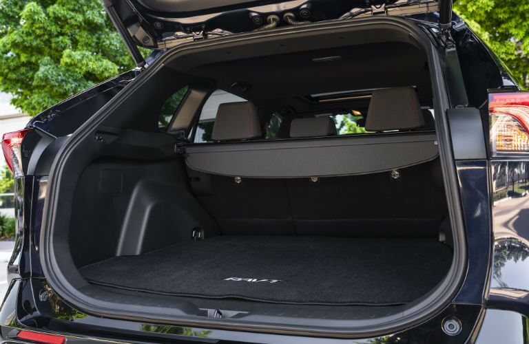 A photo of one of the cargo configurations in the 2021 Toyota RAV4 Prime.