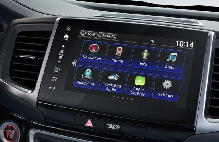 Close up of the Display Audio System inside the 2019 Honda Ridgeline