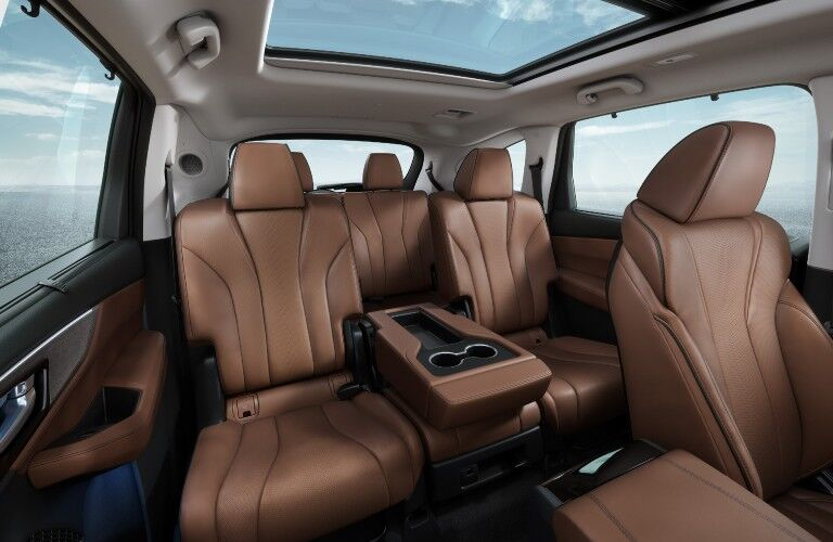 A photo of the rear seats in the 2022 Acura MDX.