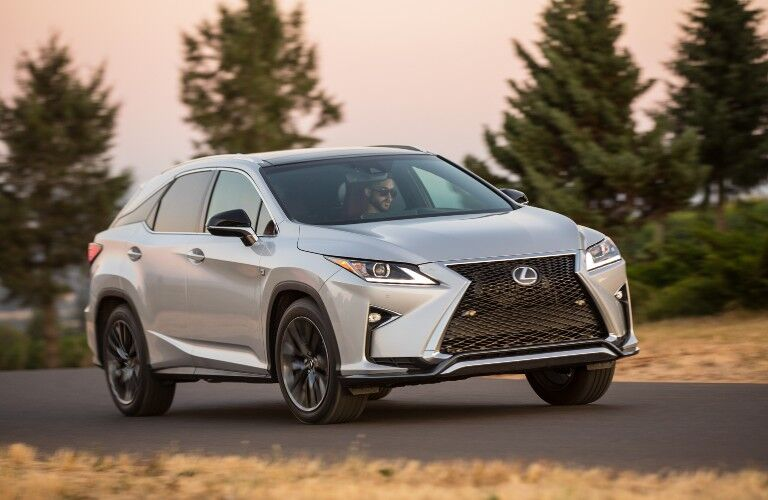 2018 Lexus RX on road