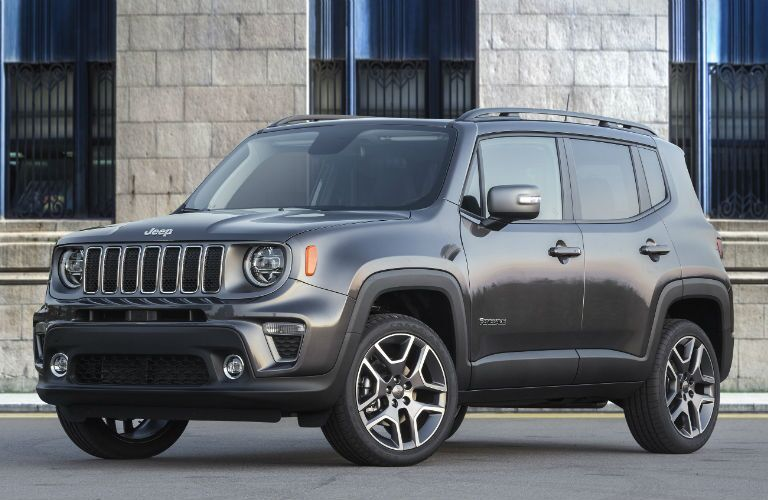 A front left quarter photo of the 2020 Jeep Renegade.