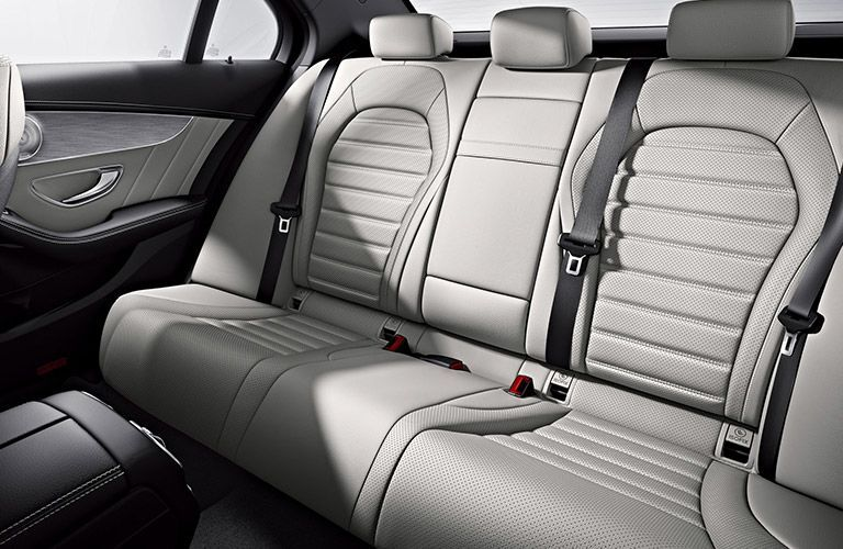 Rear seats of the 2018 Mercedes-Benz C300 Sedan