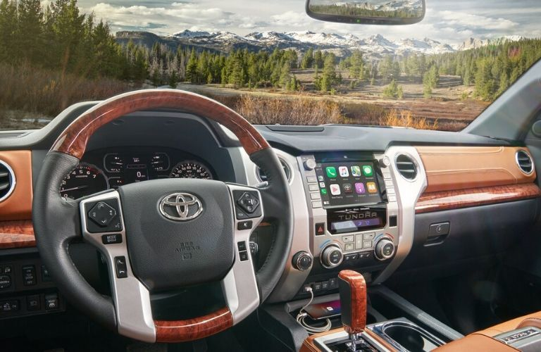 2020 Toyota Tundra dash and wheel