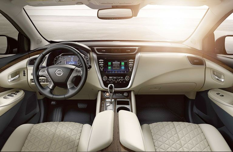 Beige dashboard and front seats in 2020 Nissan Murano