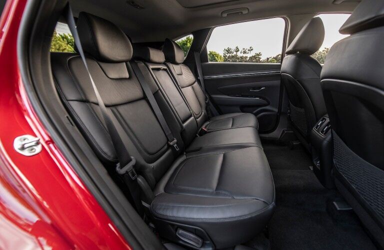 A photo of the rear seats in the 2022 Hyundai Tucson.